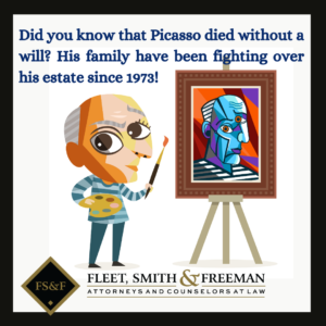 two-dimensional illustration of Picasso painting on an easel